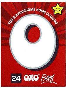 OXO Stock Cubes Beef (24 x 6g) Two Boxes for £2 at Sainsburys