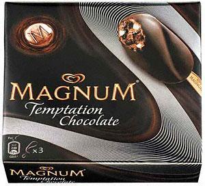 Wall's Magnum Temptation Chocolate (3x80ml) & Wall's Magnum Temptation Caramel & Almond (3x80ml) £1.74 a box at Sainsburys