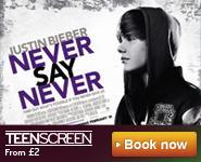 Your teenager like Justin Bieber? £2 @ Vue Teen screen Fri 11th & Thurs 17th