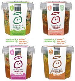 Innocent veg pots - Half Price instore in Tesco