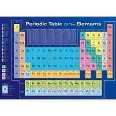 Periodic Table of Elements (Educational) Art Poster Print - 24x36 - £4.20 @ Amazon (reduced from £30.00? :-))
