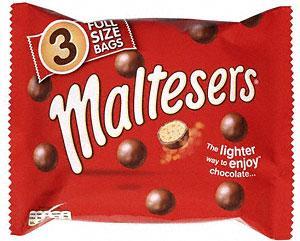 Maltesers - 3 Full Size Bags Pack £1 at Tesco & Sainsburys