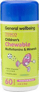 Children's chewable multivitamins & minerals 180 for £2.32 @ tesco