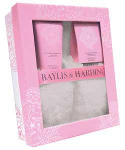 Baylis and Harding Wild Rose Slipper Set - Slippers, Creams, Foot Soak - (was £24.99) now £7.25  @ Argos