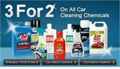 It's back on at Halfords, 3 for 2 on ALL car cleaning Chemicals
