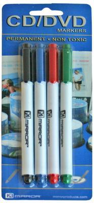 Mirror CD/DVD Marker Pens - 4 Pack - £1.60 Delivered @ 7 Day Shop