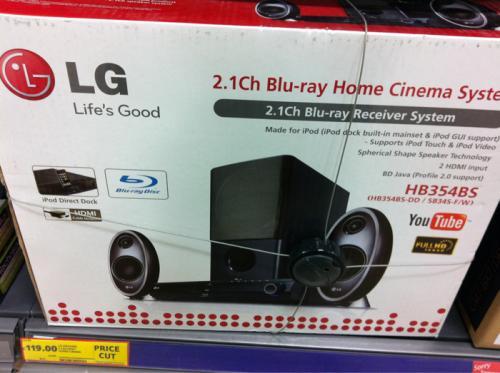 LG HB354BS - 2.1 Bu Ray Home Cinema System - £119 *Instore* @ Tesco