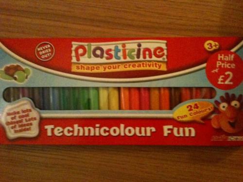 Plasticine Technicolour Fun - 24 Sticks - 76p *Instore* @ Tesco