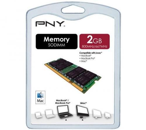 PNY PC2-6400 DDR2-800/667 SODIMM RAM - 2GB, for Mac...was £54.99 now £19.97 @ PC World (PCworld)