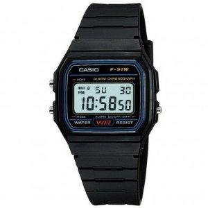 Casio F-91W-1XY (F-91W-1YER) Mens Resin Digital Watch - £6.94 @ Amazon