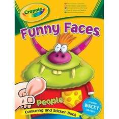Crayola Funny Faces Colouring & Sticker Book (People or Animals) - £1.99 Delivered @ Amazon