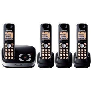 Panasonic KX-TG6524EB QUAD DECT Cordless Telephone + Answerphone £48.89 @ Amazon