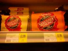 Seriously Strong White and Orange 400g Cheddar £1.99 in Morrisons West Kirby