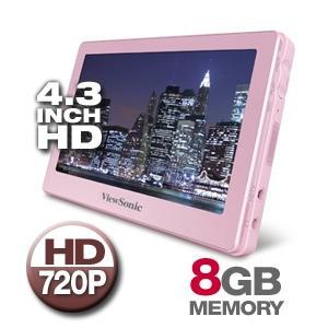 ViewSonic 4.3 Portable Media Player 8GB In Pink - £44.99 Delivered @ Zavvi