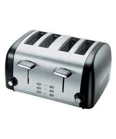 Cookworks Signature Stainless Steel 4 Slice Toaster £19.99 at Argos
