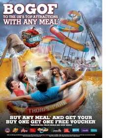 BOGOF To The UK's Top Attractions With Any Adult Meal @ Burger King