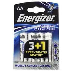Energizer Ultimate Lithium Power - AA Ultimate Lithium Batteries - 4 Pack - £3.89 Delivered @ 7 Day Shop