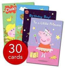 Peppa Pig Greeting Cards Set - 30 Cards - £4.99 @ The Book People