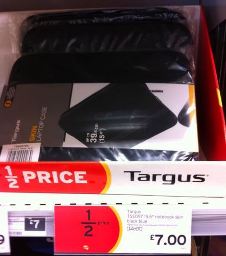 Targus Laptop Bag/Skin - in Black and Blue £7 @ Sainsburys in-store