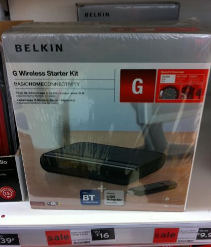 Belkin Wireless Kit - Wireless-G with USB £16.00 @ Sainsburys in-Store only