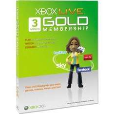 3 Months Xbox Live Gold Subscription - £11.99 Delivered @ Amazon