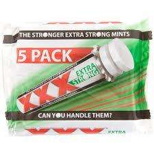 5 packs of XXX extra strongmints £1 @poundworld