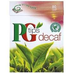 PG TIPS DECAFFEINATED TEA BAGS 3 X PACKS OF 80 £3.15 AMAZON (MAYBE  £2.83)