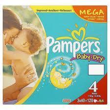 Pampers Baby Dry Mega box Size 4 (120 nappies) £9 @ Asda