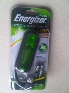 Energizer USB Battery Charger for AA & AAA + 2 AA batteries - £2.69 delivered @ ebay nhx_it_brokers