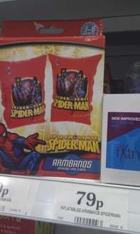 Spider Man Swimming Arm Bands - Only 79p Instore @ Home Bargains
