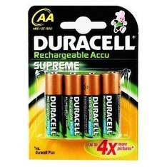 Duracell Rechargeable Accu Supreme 2450 mAh AA Batteries - 4-Pack  now 34.20 delivered @ amazon