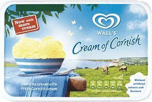 Wall's Cream of Cornish Ice Cream (1L) - Half Price £1.28 at Tesco
