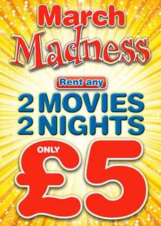 March Madness Rentals Instore + Other Great Deals & Savings: As Cheap As £2 A Blu-ray or DVD On New Release @ Blockbuster