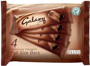 Galaxy Milk Chocolate Bars (4x46g) £1.00 @ Asda