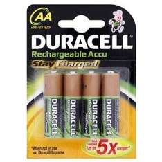 Duracell AA Rechargeable Stay Charged Batteries - 4 Pack - £2.50 @ Asda