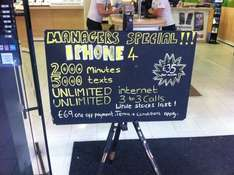 *24 MONTH CONTRACT* 3 Mobile - iPhone 4 - 2000 Mins, 2000 Texts, Unlimited Data - £69 Phone Cost - £35 Per Month *Instore*@ 3 Mobile