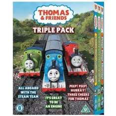 Thomas & Friends: All Aboard With The Steam Team / It's Great To Be An Engine / Peep! Peep! Hurray! (DVD) (3 Disc) - £3.97 @ Tesco Entertainment