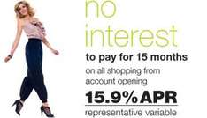 Barclaycard: 20 Months interest free on balance transfers 3.2% fee, or M&S 15 months interest free on purchases
