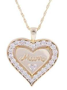 Gold Plated and CZ Mum Heart Pendant  was £45.00 Now £35.00 @ VERY - Save £10.00      Cat No: MC2791E