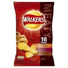 Walkers Crisps 18 x 25g Meaty Multipack - £1.49 *Instore* @ Home Bargains