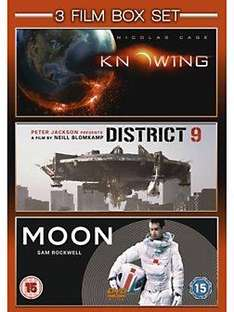 3 Film Box Set - Knowing / District 9 / Moon (DVD) - £4.98 Instore @ Homebase