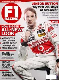 Free Copy of F1 Racing Magazine (0845 call required)