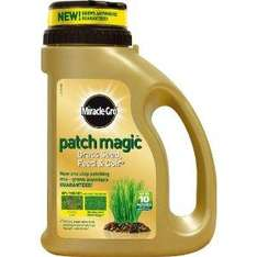 Amazon - Miracle-Gro Patch Magic Grass Seed, Feed and Coir 10 Patches 750 g Shaker Jug .. RRP:£9.99 ...Now:£5.46