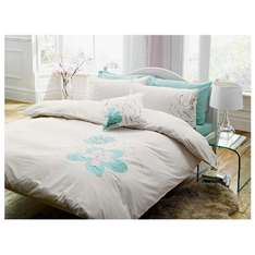Possible misprice - Tesco Tilly Embroidered Single Duvet Set, Ivory .. only £4.50