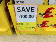 KARCHER K2.335 PRESSURE WASHER £99 IN TESCO INSTORE