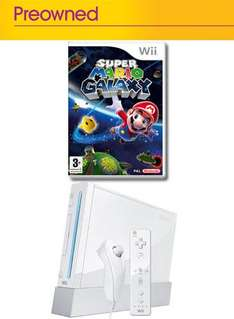 Nintendo Wii Console With Super Mario Galaxy (Pre-owned) - £69.99 @ Game