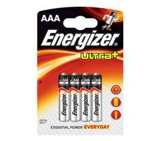 Energizer Ultra Plus AAA Batteries 4 Pack - Normally £1.49 Now Only 50p *Instore* @ Asda