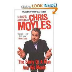 Congratulations to Chris Moyles - now buy his book, reduced to £5.99 at Amazon
