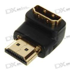 HDMI Male to Female Video Adapter In Black - £1.33 Delivered  @ Deal Extreme