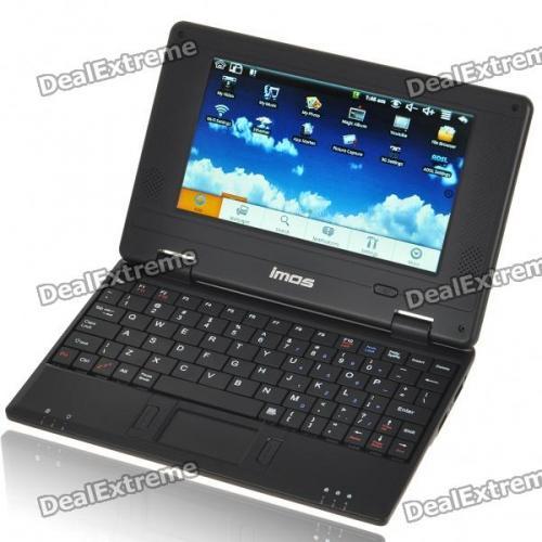 "7"" TFT LCD Android 1.6 VIA8505 CPU WiFi UMPC Netbook - Black (300MHz/2GB/USB/SD/LAN) £61.66 Del @ Dealextreme"
